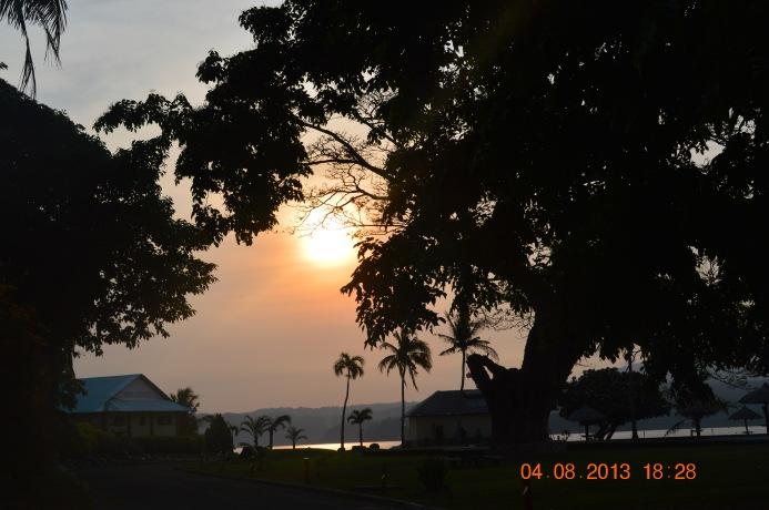 The majestic sun set