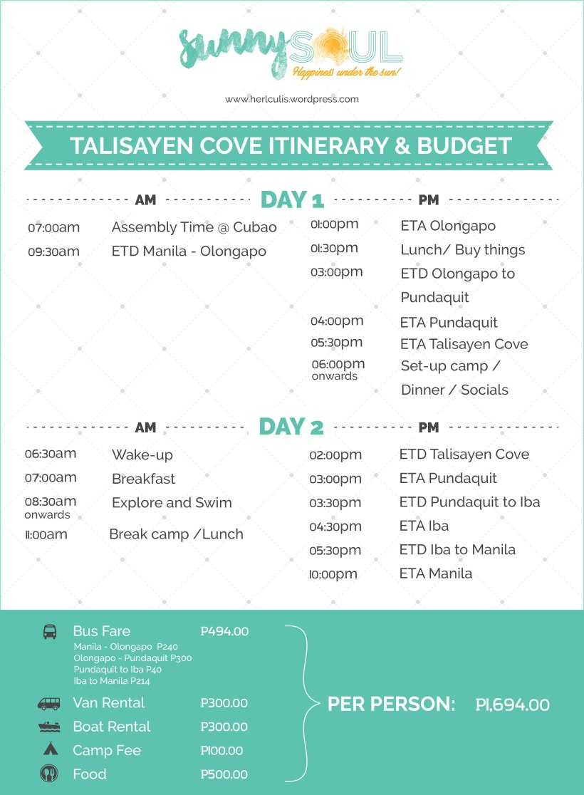 Talisayen-Cove-Itinerary-with-Budget