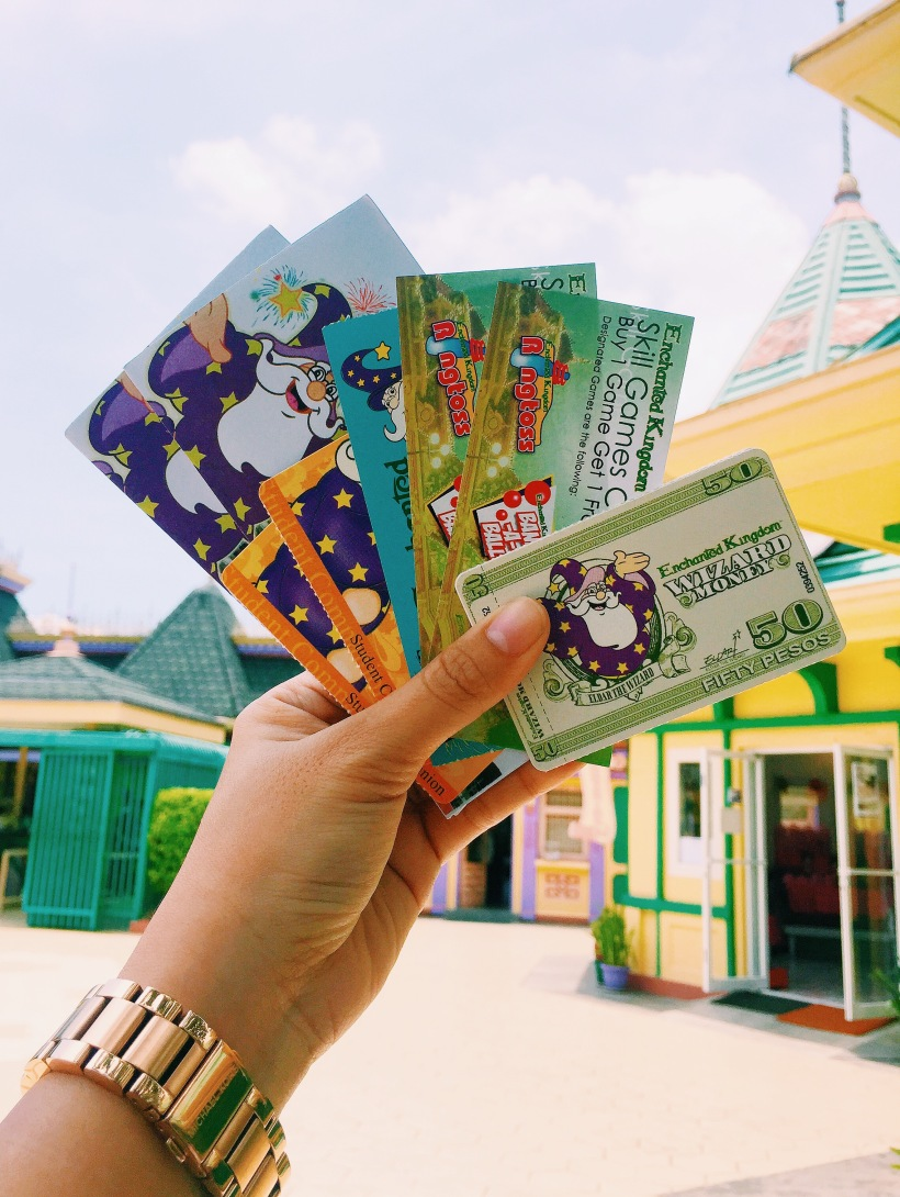 Tickets, Discount vouchers, Meal stub, and Wizard money